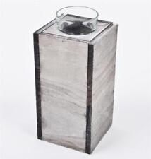 Portavelas de color principal gris de madera para el hogar