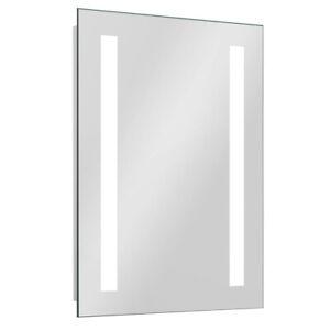 LED Illuminated Bathroom Mirror IP44 Demister Sensor/Button 700x500mm Square