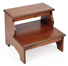 STRATFORD HALL STEP STOOL - BED STEPS - OLIVE ASH BURL FINISH - FREE SHIPPING*