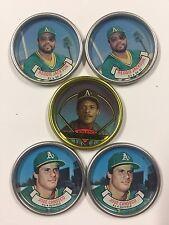 Topps Coins Coin Team Set 1987 1990 Oakland A's Canseco Jackson Henderson