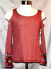 Nwt Junior's Crave Fame Almost Famous Knits Heather Wine Medium Msrp $34 J6