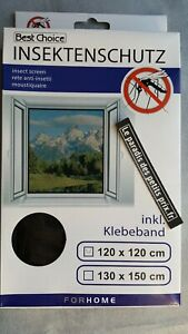 moustiquaire pour fenêtre,120 x 120 cm avec fixation scratch