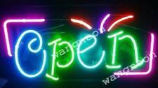 Neon Open Business Sign Real Glass Hand Blown Made Window or Wall FREE SHIPPING