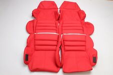 Custom Made 1989-1993 C4 Corvette Real Leather Seat Covers Sport Seats RED
