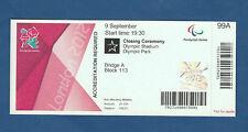 Orig.Ticket   Paralympics LONDON 2012 - SCHLUSSFEIER  !!  EXTREM SELTEN