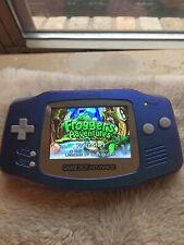 Backlit IPS Chameleon Metallic Nintendo Gameboy Advance Glass Lens Frogger Cart