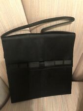 Tano brand black fabric evening bag Vintag Made in Spain