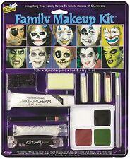 Disfraz De Halloween Familia Horror Zombie Maquillaje Pintura Facial Set #9432c