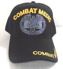 MILITARY CAP ARMY  COMBAT MEDIC HAT BLACK