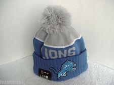 """""""NFL"""" DETROIT LIONS  AUTHENTIC """"NEW ERA""""  ONFIELD SPORT POM TOP  KNIT CAP"""