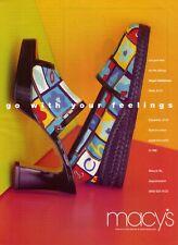 1997 Macy's Ad Stuart Weitzman Espadrille Colorful Shoe photo Vintage Print Ad