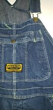 Vtg Washington Dee Cee Sanforized Jean Denim Button Bib Overalls 40X28