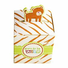 48 Tiger Born To Be Wild Jungle Baby Shower Favor Candy Boxes Party Stripe Gift