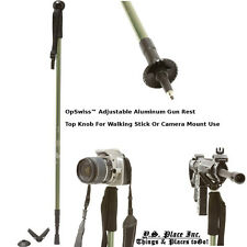 Adjustable Walking Stick Camera Rest Monopod  Rifle Shotgun Shooting Stick Rest