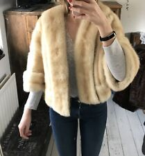 Arctic Fox Real Fur Coat White Handmade Bespoke Bolero Jacket Coat Designer Mink