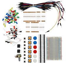 Electronic Starter Kit Resistor Buzzer Breadboard LED Cable Electronic Fans LN