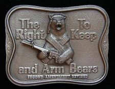 AWESOME ARM BEARS BELT BUCKLE BEAR WITH M-16 BUCKLES