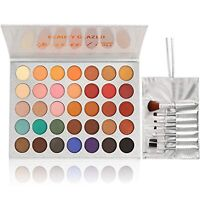 Limited Edition Morphe x Jaclyn Hill 35 Color Eyeshadow Palette Makeup Brushes