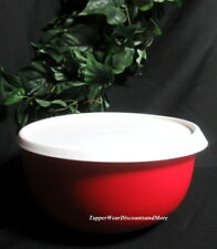 Tupperware New Beautiful Holiday Red Essentials Blossom Bowl With White Seal