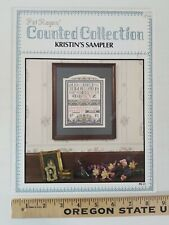 OOP Pat Rogers Kristin's Sampler Counted Cross Stitch Pattern Booklet ALPHABET
