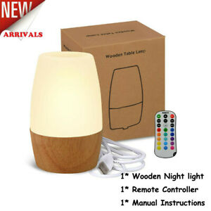 LED Night Light-16 Colors Changing Remote Control Bedside Table Lamp for Kids