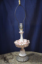UNUSUAL FUNKY FRUIT BASKET LAMP CREAM WITH PINK & GOLD