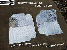 Jeep Wrangler YJ Highly Polished Diamond Plate Front Floor Cover