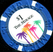 $1 Las Vegas Mirage Obsolete Casino Chip - UNCIRCULATED