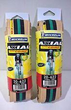 Coppia copertoni Michelin Axial Supercomp Nero/verde 700x20c Corsa e Allenamento