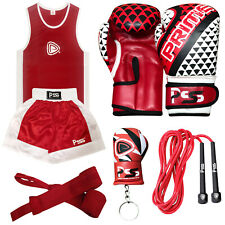 Kids Boxing 5 Pieces Training Set Uniform Top Short Boxing Gloves Wrap Rope 1023