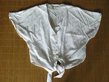 Bauchfreie Lockre Sitzende Damenblusen,-Tops & -Shirts im Blusen-Stil mit Baumwollmischung