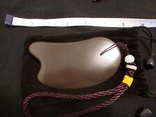 Gua Sha Guasha A+ Natural Black Si Bin Bian Stone Beauty face Massage body tool