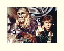 HARRISON FORD PETER MAYHEW STAR WARS SOLO PP MOUNTED 8X10 SIGNED AUTOGRAPH PHOTO