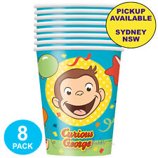 Curious George 270ml Paper Cups (8). Unique Industries. Is