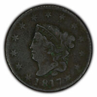 1817 1c Coronet Head Large Cent - VF Detail - SKU-Y2296
