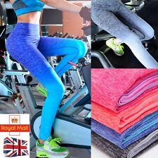 UK Women High Waist Yoga Fitness Leggings Running Gym Sports Pants Trousers L224