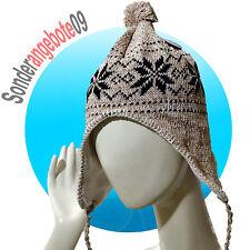 Castelli Inka Mütze Modell Norge Wintermütze warm Bommelmütze beige Schnee