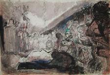 """""""Les Quat z'arts G. BRASSENS"""" Lithographie signée Pierre PARSUS"""