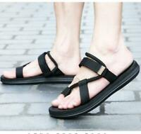 Mens Summer Beach Casual Strap Gladiator Flat Sandals Slippers Shoes Flip Flops