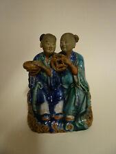 Statuette en grès vernissé.chine,Viétnam.Début XX°.Porcelaine,émail.