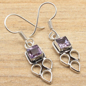 925 Silver Plated Over Solid Copper, Real Purple AMETHYST BESTSELLER Earrings
