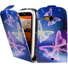 Fundas con tapa color principal azul piel sintética para teléfonos móviles y PDAs