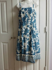 JESSICA HOWARD Light Blue Floral Sundress Size 8 WC596