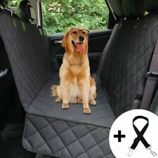 New ListingDog Seat Cover for Back Seat, Waterproof Washable Black Car Seat Cover for Pets,