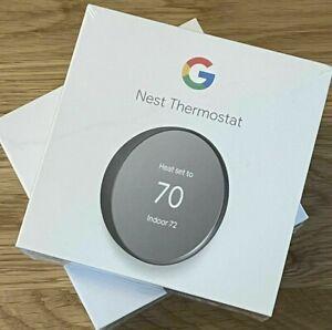 Google NEST Smart THERMOSTAT NEW SEALED G4CVZ - Charcoal