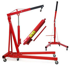 Folding 2 Ton Tonne Hydraulic Engine Hoist/Crane/ Stand Lift 2000kg Garage Jack