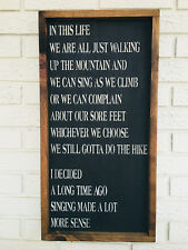 """Large Rustic Wood Sign - """"In This Life...."""" Inspirational, Motivational"""