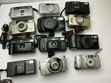 Lot of 12 Vintage Assorted Brand 35mm Point & Shoot Film Camera