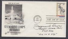 Col. Jefferson Dorroh, US Marine Fighter Pilot Ace, signed Marine Corps FDC