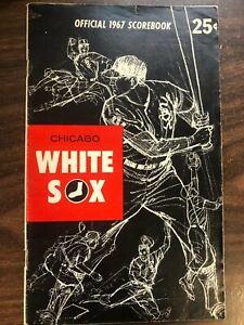 MLB BASEBALL CHICAGO WHITE SOX OFFICIAL 1967 SCOREBOOK + TICKET VERY GOOD CON